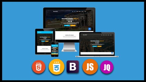 Build a fully responsive website with Html 5 Css 3 Bootstrap and JavaScript