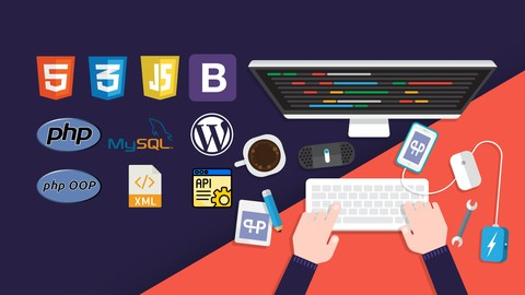 Learn to build websites with HTML , CSS , JAVASCRIPT , Bootstrap , PHP , MySQL , WordPress , OOP & more!